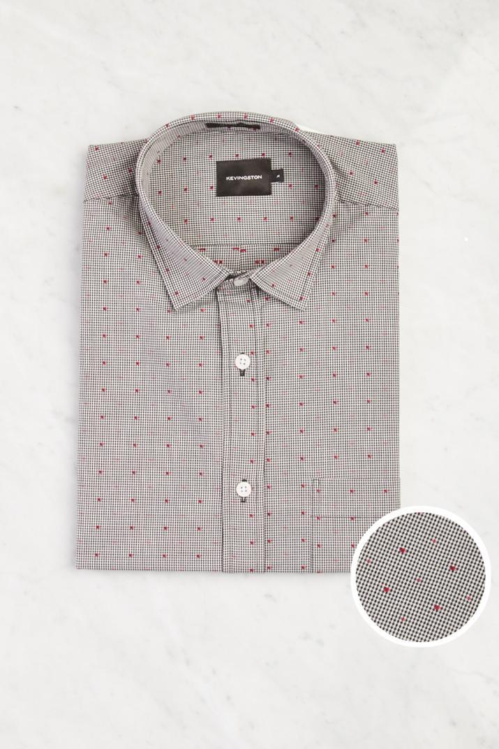 Camisa Penn Alumni de algodón estampada Classic fit