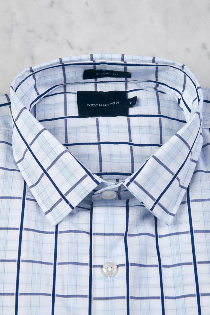 Camisa Súper Penn Business escocesa de algodón Classic fit