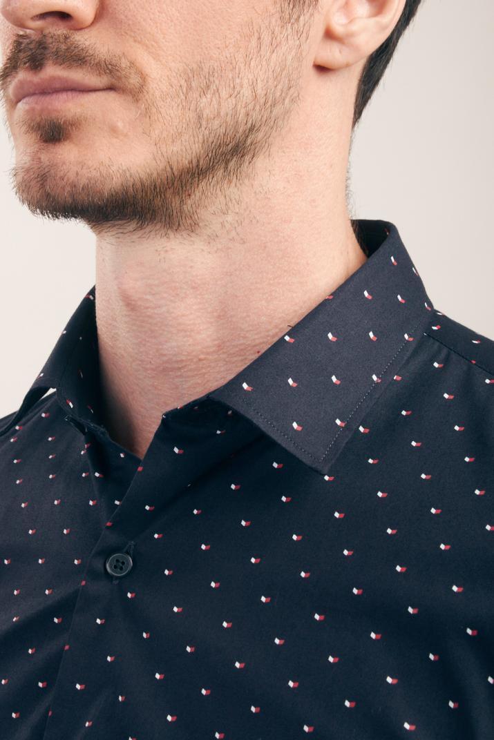 Camisa Saturday estampada de algodón Slim fit