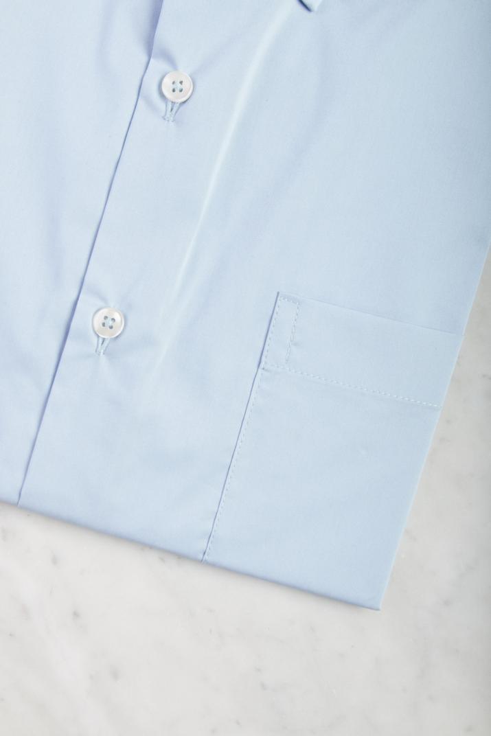 Camisa Súper Penn Business lisa de algodón Slim fit