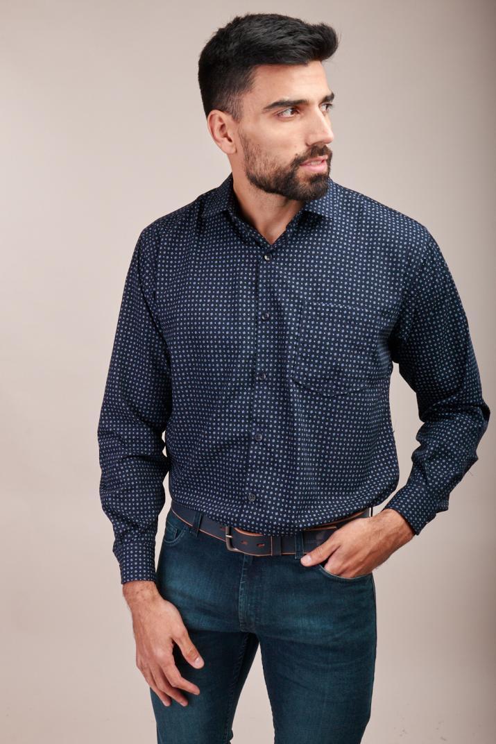 Camisa Súper Penn Business estampada Classic fit