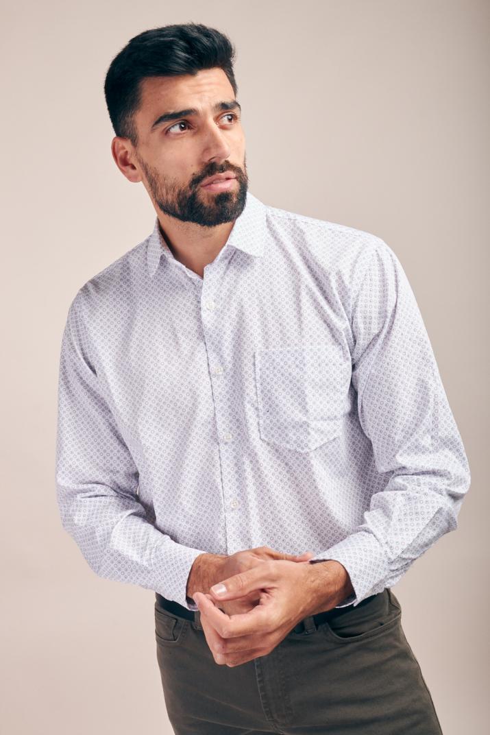 Camisa Súper Penn Business lisa de algodón Classic fit