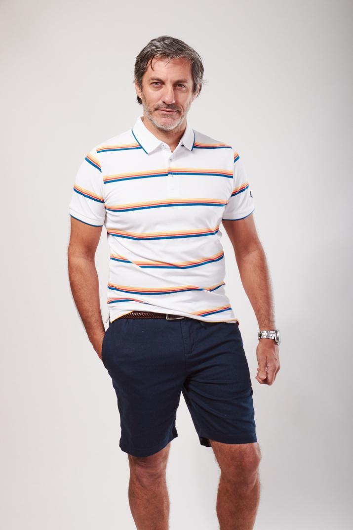 Chomba Umbria rayada Slim fit