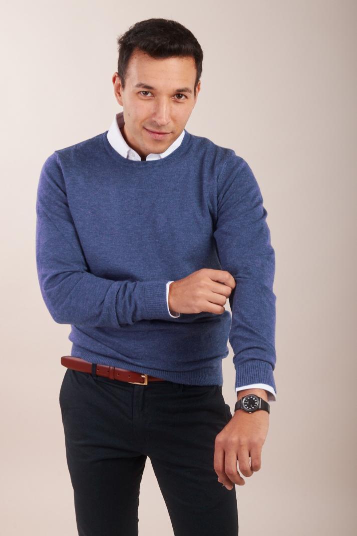 Sweater Dass con escote redondo Slim fit