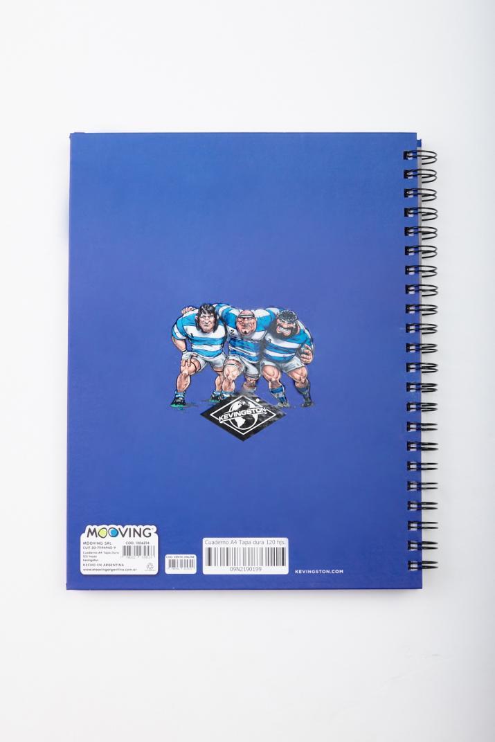 Cuaderno A4 Kevingston tapa dura 120 hojas