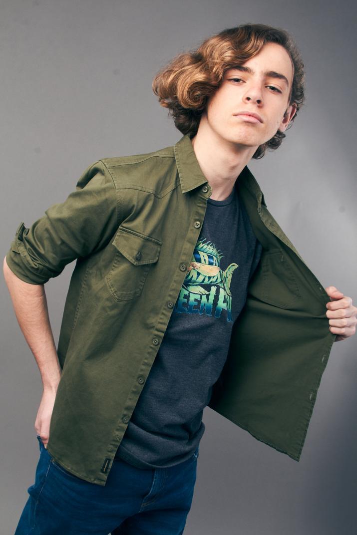 Camisa New Dyllan de gabardina