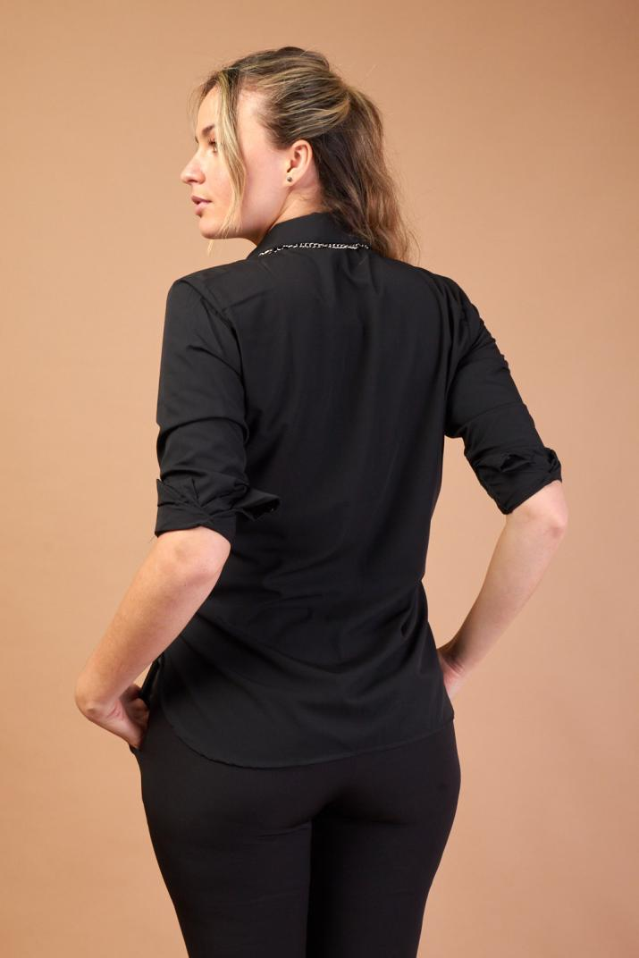 Camisa Cumbris lisa de poplín Modern fit