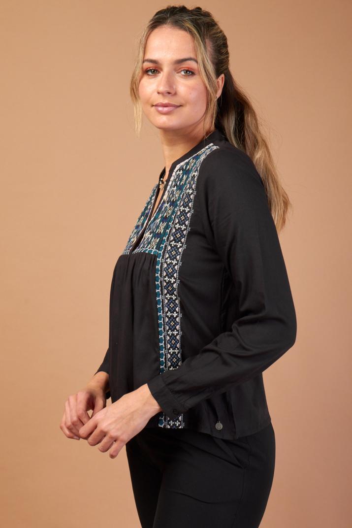 Camisola Keane manga larga con bordado