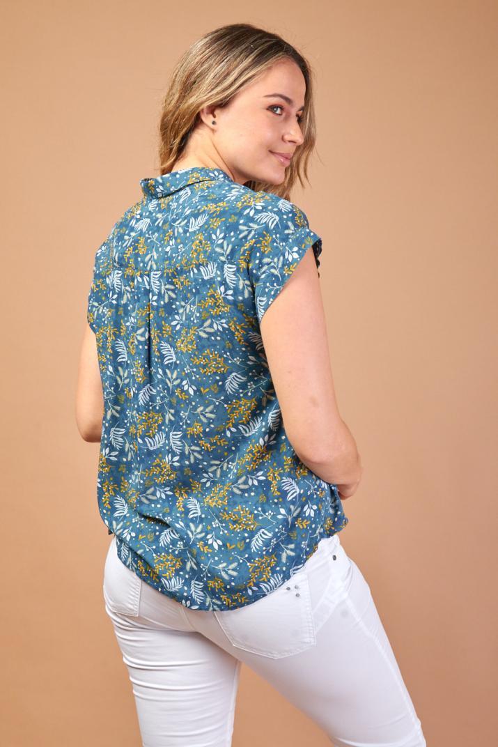 Camisa Sunny estampada sin mangas