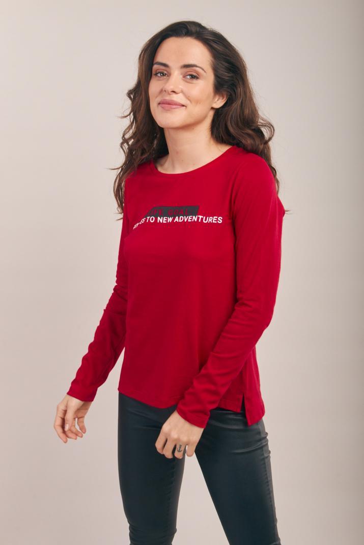 Remera New Callie estampada manga larga