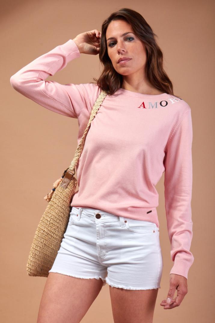 Sweater Amore con bordado